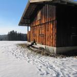Einsame Hütten im Schnee