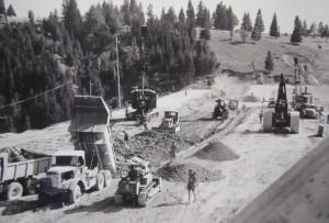 Bau des Damms
