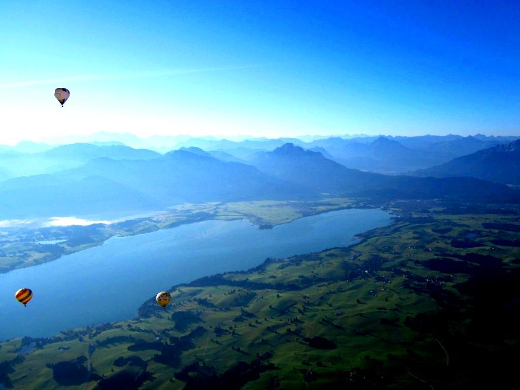 Aufnahme aus dem Heißluftballon von Dagmar Schütz