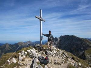 Gipfelkreuz Krähe